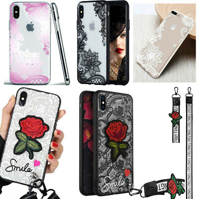 F Iphone 11 Pro Max 8 Plus XS Max XR Shockproof Lace Girls Cute Phone Case Cover