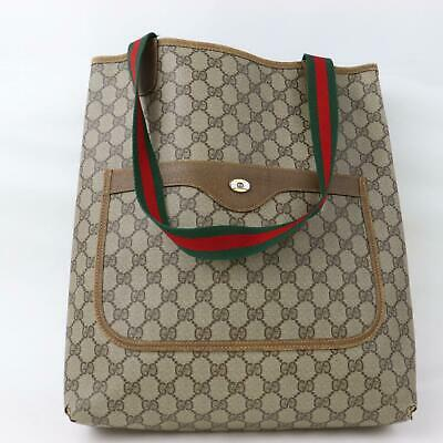 b149d116c AUTHENTIC VINTAGE GUCCI Tote Bag GG Sherry Browns PVC 356815 ...