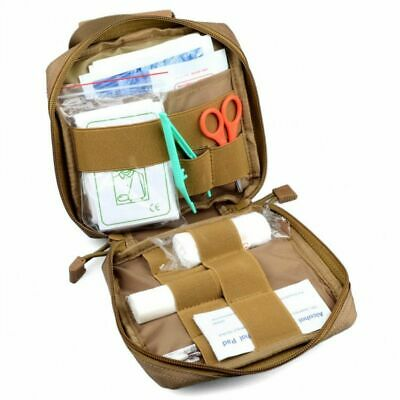 Canvas Emergency Survival First Aid Kit Medical Bag Camping Travel Home Sports-
