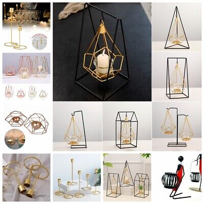 Nordic Style Design Round Candlestick Metal Candle Holder Home Wall Decor Crafts