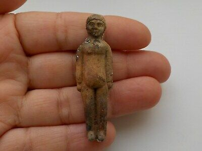 Very Early Miniature Porcelain Figure Victorian Dump Find.