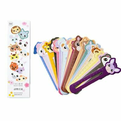 30Pcs Animal Paper Bookmarks Book Holder Ruler Stationery School Supply-Gif M8C7