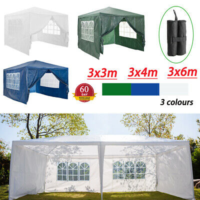 Gazebo Waterproof Garden Outdoor Marquee Wedding Party PE Tent 3x3m/3x4m/3x6m