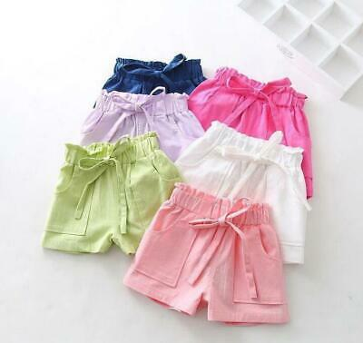 1pc toddler kids summer clothes girls summer cool short pants linen shorts cute