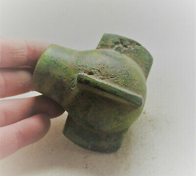 Circa 1000Ad Viking Era Nordic Bronze Mace Head Norse Battle Object