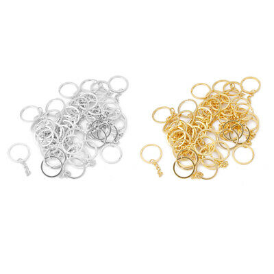 100pcs Assorted Split Ring With 4 link Chain KeyRings /Blank Key Chains 25mm