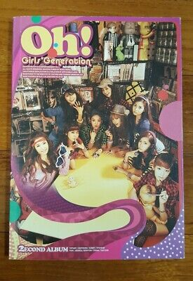 """Girls' Generation (SNSD) autographed """"Oh!"""" 2nd Album signed PROMO CD"""