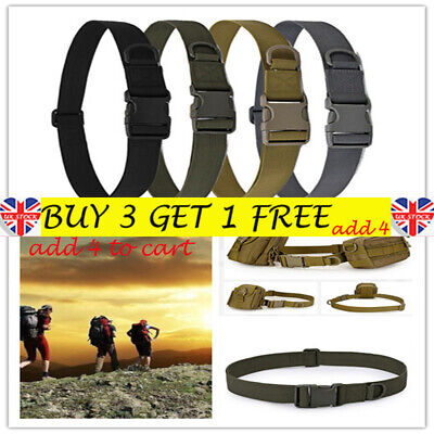 Army Heavy Duty Military Combat Tactical Belt Quick Release Waistband Outdoor BE