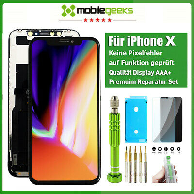 LCD Display für Original iPhone X 10 RETINA Glas HD 3D Touch Bildschirm Schwarz