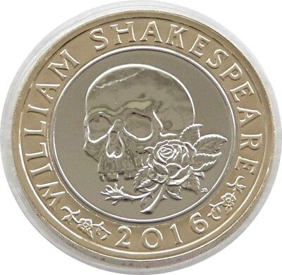 2016 William Shakespeare Macbeth Skull Tragedies £2 Two Pound Coin Uncirculated