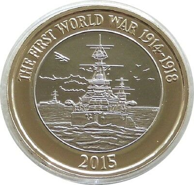 2015 First World War Royal Navy Belfast £2 Two Pound Coin Uncirculated