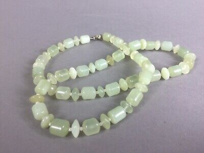 A  Jadeite Jade string necklace Green/jade