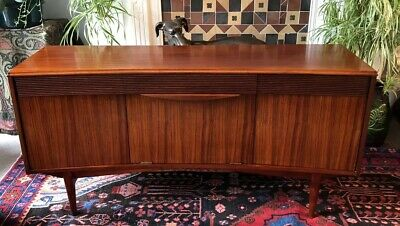 Vintage MID CENTURY teak MODERNIST sideboard Danish Era COCKTAIL cabinet