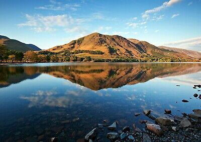 Cool Buttermere Lake District Poster Size A4 / A3 UK Nature Poster Gift #8929