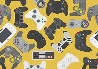 Cool Gamer Poster Size A4 / A3 Gaming Controller Video Game Poster Gift #8818