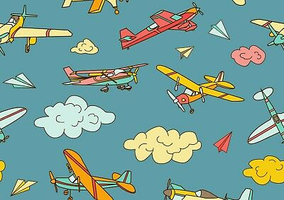 Cool Cartoon Airplanes Poster Size A4 / A3 Aircraft Travel Poster Gift #8804