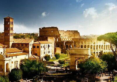 Cool Roman Colosseum Poster Print Size A4 / A3 Rome Landscape Poster Gift #8920