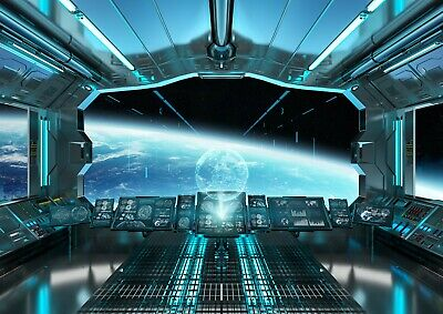 Cool Alien Spaceship Cockpit Poster Size A4 / A3 Space Travel Poster Gift #8775