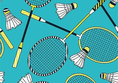 Cool Racket & Shuttlecock Poster Size A4 / A3 Badminton Sports Poster Gift #8828