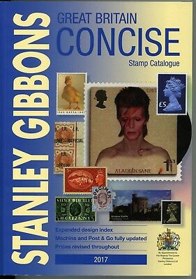 Great Britain Concise Stamp Catalogue 2017 by Stanley Gibbons. CLEARANCE PRICE!!