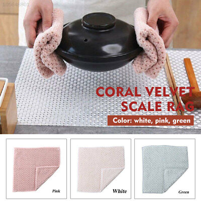 A35B Coral Fleece Kitchen Cleaning Cloth Washing Cloth 2pcs Home Reusable