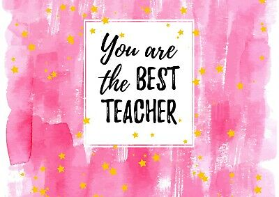 Cool Best Teacher Quote Poster Size A4 / A3 Professor School Poster Gift #8723