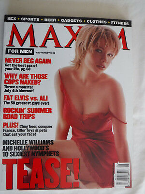 MAXIM Magazine #20 July/August 1999 Michelle Williams Angelica Bridges