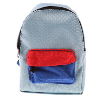 Blue Schoolbag Backpack Student Bag for 18inch American Doll Girls Gift