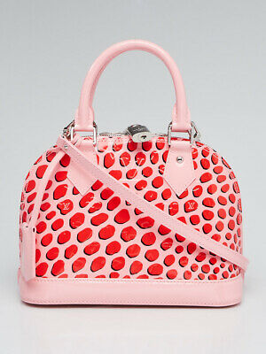 NEW Louis Vuitton Alma Bb Jungle Dot Vernis 2016 Pink Leather Cross Body Bag