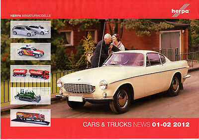 Magazine Catalogue Herpa Janvier February 2012 Cars & Trucks 8 Pages