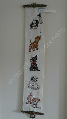 Dutch House Bell Pull Cord With Puppies Nice!
