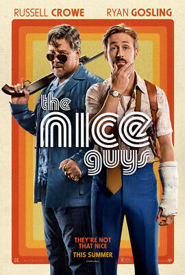THE NICE GUYS MOVIE POSTER DS ORIGINAL Ver B 27x40 RYAN GOSLING RUSSELL CROWE