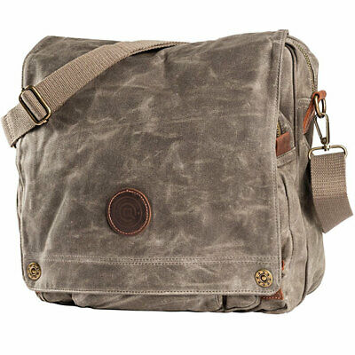 QBag Motorbike Motorcycle Touring Casual Messenger Bag Canvas Retro Brown