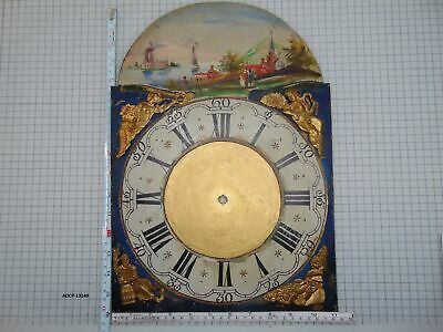 Antique Hand Painted Dial For Friesian Tail Clock