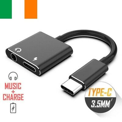 Type-C to 3.5mm Jack AUX Audio Headphone USB-C Charging Adapter Splitter Cable