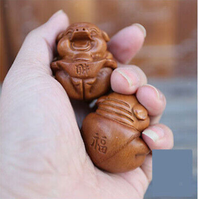 2 Pairs Wooden Hand Exercise Ball Stress Relief BAODING Balls Palm Massage