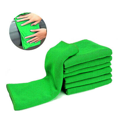 10x Car Soft Microfiber Absorbent Wash Cleaning Polish Towel Cloth Duster Tool