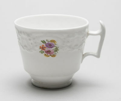 Antique Early 19th Century English Porcelain Teacup Tea Cup with Floral Design