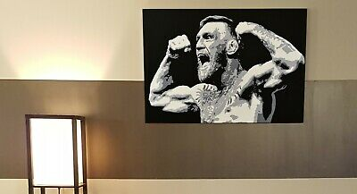 2x3 Foot Professional Grade Canvas PRINT OF Conor McGregor mma art for your wall