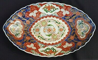 Antique Japanese Porcelain Imari,Large Plate,Painted by hand, 19th, signed