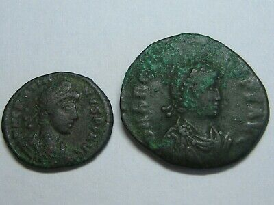 Ancient Roman Imperial Coins Genuine Lot 2 Coins Bronze
