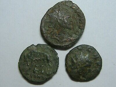 Ancient Roman Imperial Coins Genuine Lot 3 Coins Bronze ,,