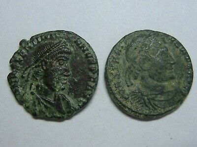 Ancient Roman Imperial Coins Genuine Lot 2 Coins Bronze ,,