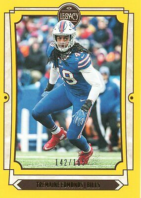 2019 Panini Legacy NFL Cards Yellow Parallel Card #12 Tremaine Edmunds - Bills