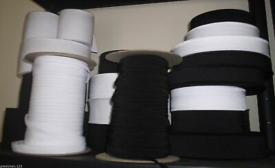19mm FLAT ELASTIC GREAT QUALITY APPROX 3/4 INCH BLACK OR WHITE
