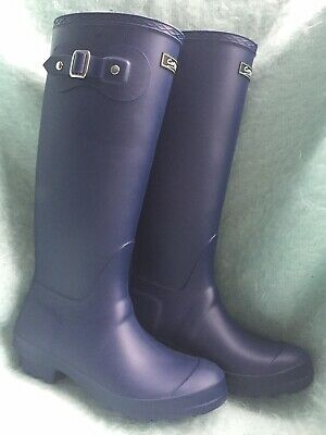 396ae39af Cotswold SANDRINGHAM Ladies Waterproof Wellies Wellington Boots Blue Size 5
