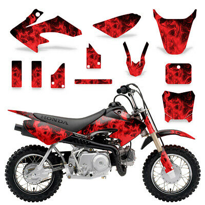 HONDA CRF50 WOODY Red Graphic Kit FREE SHIPPING!!! - $65 00