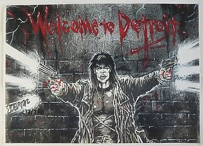 James o' Barr Lithography the Crow Welcome to Detroit Signed/Limited 178/250