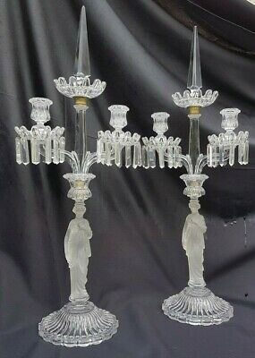 Antique French,Amazing big pair of candelabra,Crystal candlestick,Baccarat house