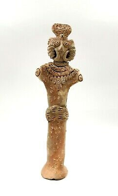 Superb Indus Valley Ca.2500 Bc  Terracotta Standing Female Fertility Idol- R158
